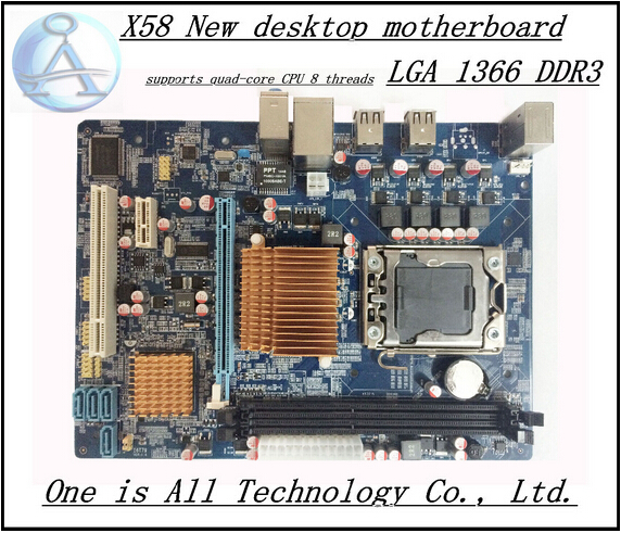 All solid capacitors motherboard supports Xeon 1366 x58 quad-core motherboard supports quad-core CPU 8 threads free shipping