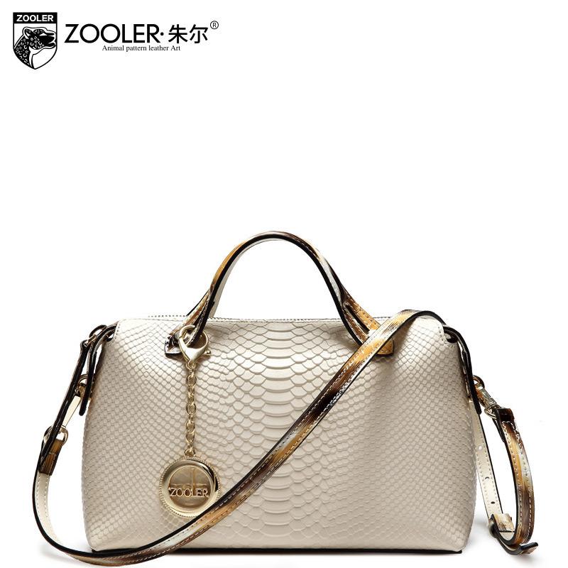 2015 serpentine pattern women's cowhide handbag one shoulder handbag messenger bag female multifunctional women's bags small