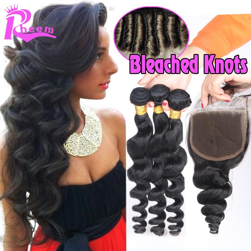 Cheap Brazilian Virgin Hair With Closure Loose Wave 3 Bundles Human Hair With Closure 4Pcs Lot Hair Bundles With Lace Closures<br><br>Aliexpress