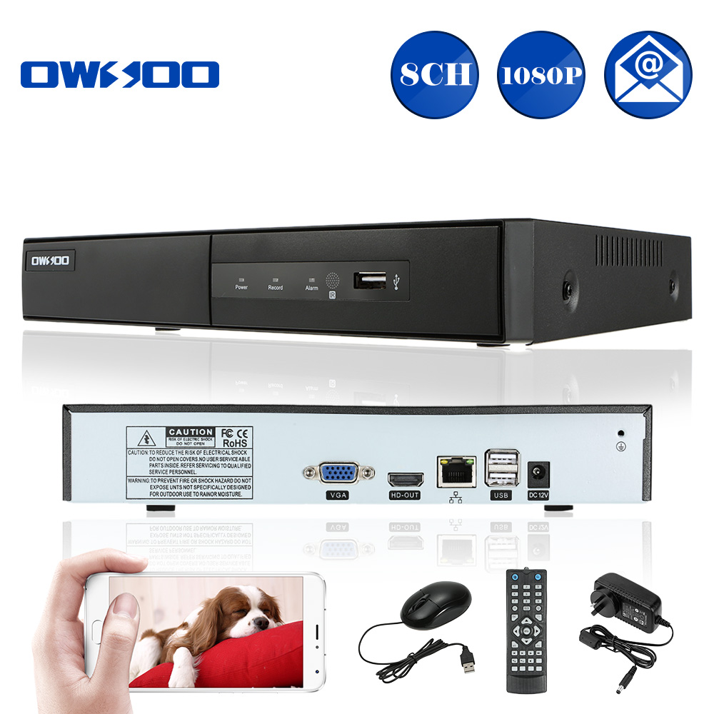 OWSOO Full HD 1080P 8CH NVR H.264 CCTV Security P2P 8 Channel DVR NVR Recorder Onvif Video Recorder Mobile Phone Remote Access(China (Mainland))