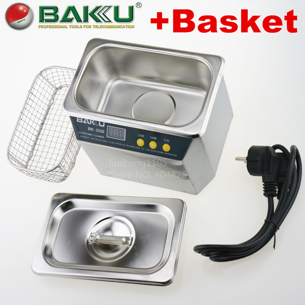 Fast Shipping! Stainless Steel ultrasonic cleaner ,brand BAKU,BK-3550.For Communications Equipment(China (Mainland))