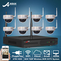 Plug And Play 8CH NVR Wireless CCTV System 2TB HDD 720P HD H 264 IR Waterproof
