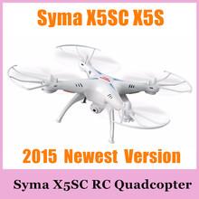 Syma X5SC X5S mise à niveau 2.4 G 4CH six axes professionnel aérienne RC Quadcopter jouets Drone Headless Mode avec caméra 2015 nouvelle Version