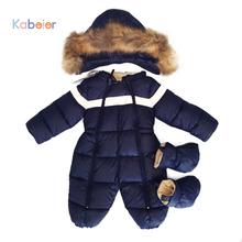 Jumpsuit Children Winter For Girls Snowsuit Baby Overalls 2016 Winter One-piece Newborn Boys Clothes mon*ler jacken girl(China (Mainland))