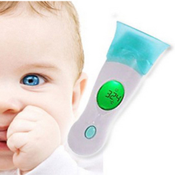 Hot Sale Termometer Health Monitors Baby Adult Digital 4 In 1 Body Ear Multifunctional Infrared Thermometer No Electronic(China (Mainland))