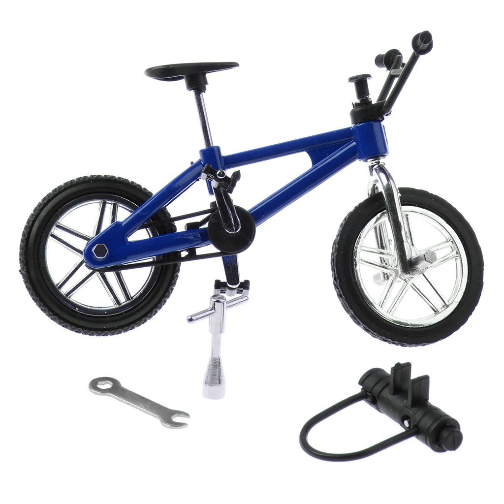 1:24 Miniature Alloy Finger Bike Mountain Bicycle Diecast Vehicle  Model Desk Gadget Toy