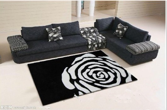 flower carpet mats living room coffee table bedroom bed carpet mats