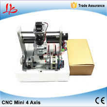 4 Axis Mini CNC Milling Machine CNC3020 300W 10000rmp Spindle Motor 3D Wood Engraving Machine(China (Mainland))