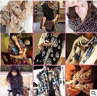 Chiffon silk scarf 2015 scarf female summer all-match scarf long design air conditioning cape(China (Mainland))