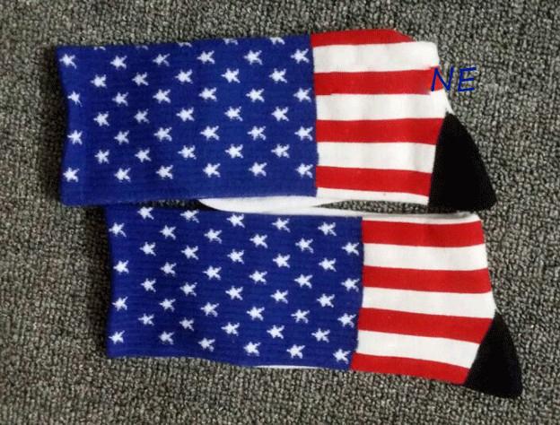 Hip Hop Brand American USA US Flag Stars and Striped meias calcetines Socks meia masculinas Sport Soccer Basketball Socks AY998(China (Mainland))