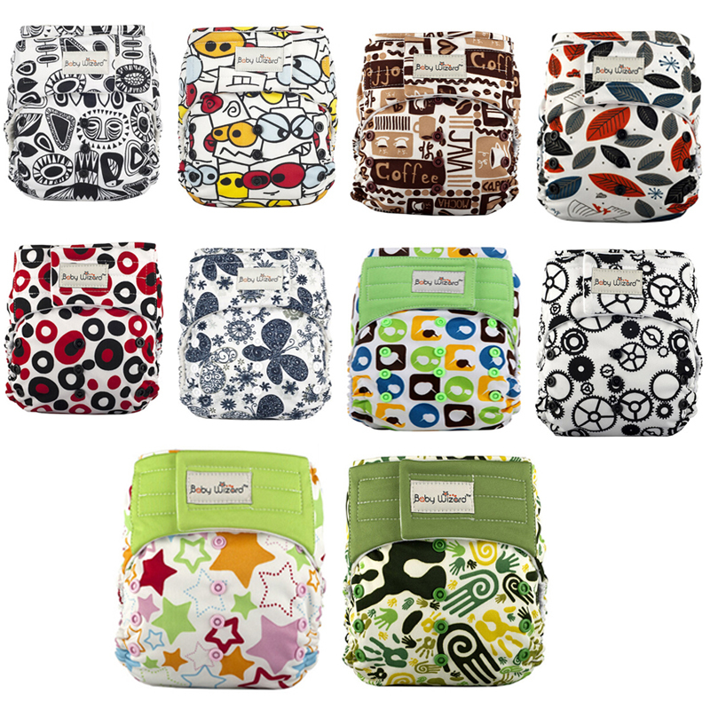 Baby Wizard Stay dry Bamboo Reusable Cloth Diaper Onesize Washable Diapers Diapers(with 2 Inserts) - Health Beauty Life Online Store store
