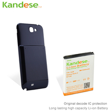 sale 1pcs lot KANDESE Brand Black Door Cover 8400mAh High capacity Extended Battery For Samsung Galaxy