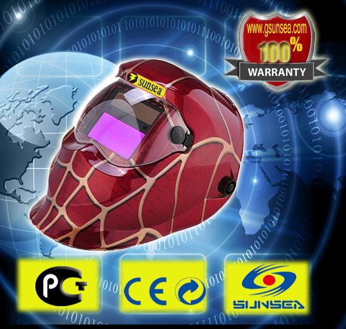 best price Auto Darkening Welding Helmets/Masks for Mig Tig MMA Dc electric welding face shields free shipping(China (Mainland))