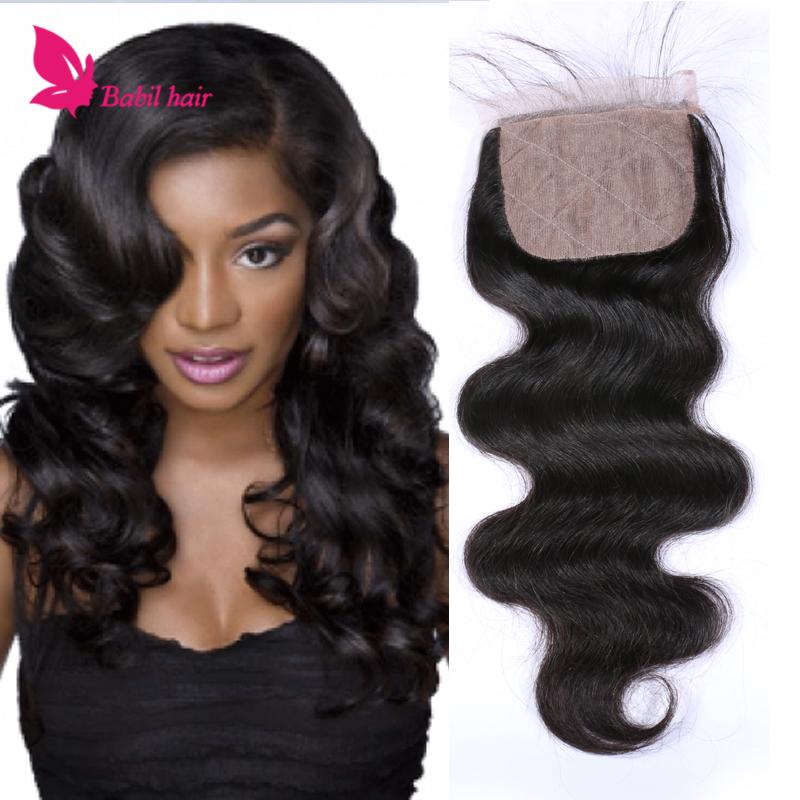 Cheap Silk Base Closures Body Wave Virgin Hair Brazilian Silk Base Closure 100% Human Hair Middle 3 Part Silk Base Closure<br><br>Aliexpress