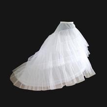2 Krinoline 3 Schicht Garn Weiß Petticoat für Langen Schwanz Hochzeitskleid Vestido de Noiva Krinoline Rockabilly Petticoat Zubehör(China (Mainland))