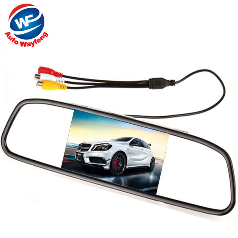 """5"""" Digital Color TFT LCD Car Monitor Rearview Mirror Security Monitor for Camera DVD VCR PAL/NTSC DC12V 2 Video Input Port(China (Mainland))"""