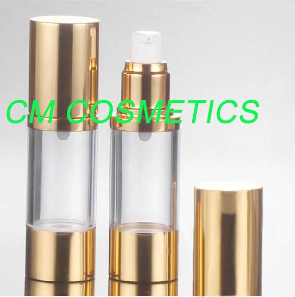 30mlShinny  Gold plastic  airless lotion bottle<br><br>Aliexpress