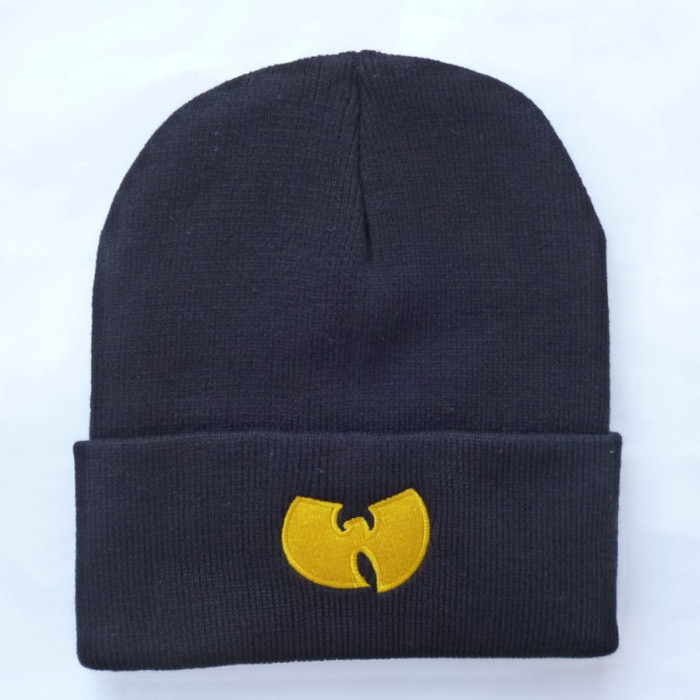 High Quality New Fashion Winter WU TANG CLAN Beanie Hats For Women Men Unisex Acrylic Black