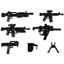 Moc Acessórios Peças de Armas Militares Para Swat Soldados Legoinglys Mini Figuras Blocos de Construção Tijolos Brinquedos Educationl Presentes(China)