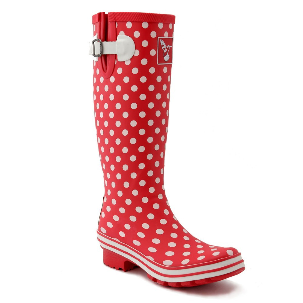 Red Polka Dot Rain Boots - Boot 2017