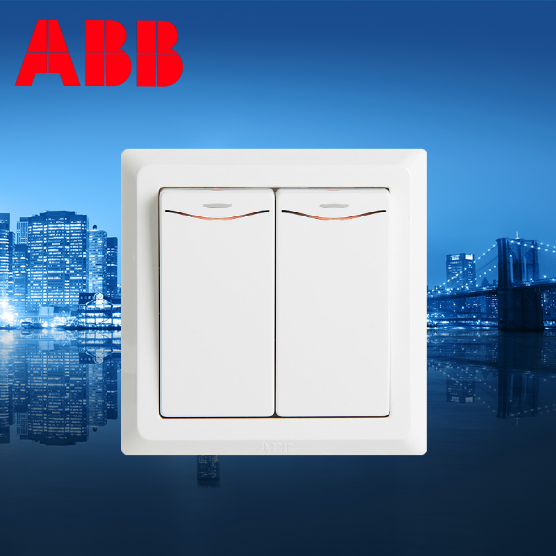 2pcs/lot ABB ABB switch socket genuine panel two single control / double billing control LED lights ABB Germany Yat AE162<br><br>Aliexpress