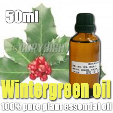 100% pure plant essential oils Wintergreen oil 50ml Stimulate Diminish inflammation Analgesia Whitening(China (Mainland))