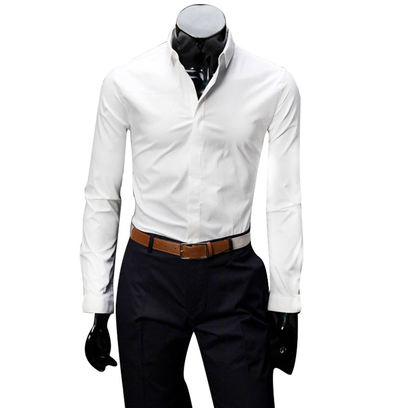 Buy southstore square collar long sleeve geometrical for Small collar dress shirt