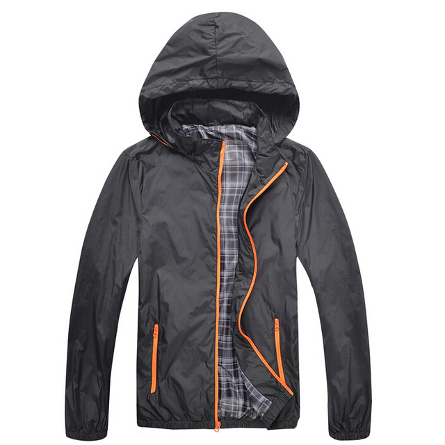 Man Waterproof Jacket New Spring Autumn Hoodie Jacket Men Sportswear Fitness Windbreaker Zipper Sport Coats