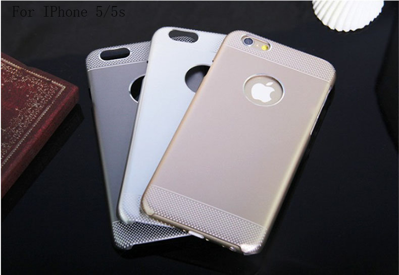 For IPhone 5 5S phone cases ultra thin aluminum corlorful double protective back skin case cover(China (Mainland))