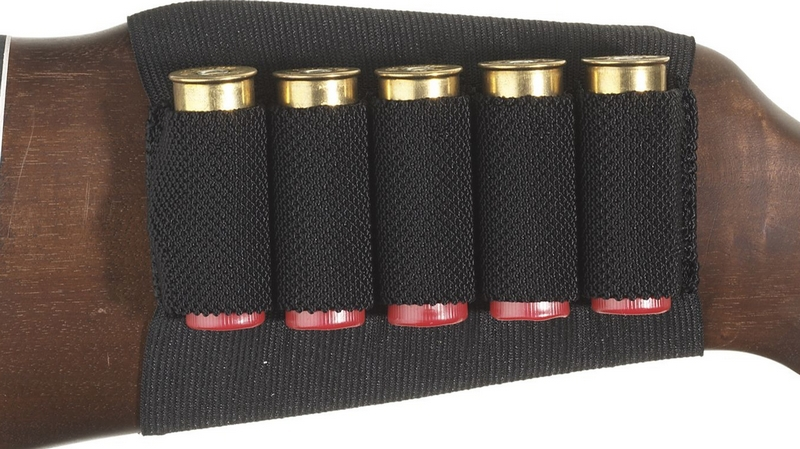 Shotgun Rifle Shell Cartridge Holder 5 Shells Black Butt Stock - AU Fishing Tackle & Hunting Co.,Ltd store