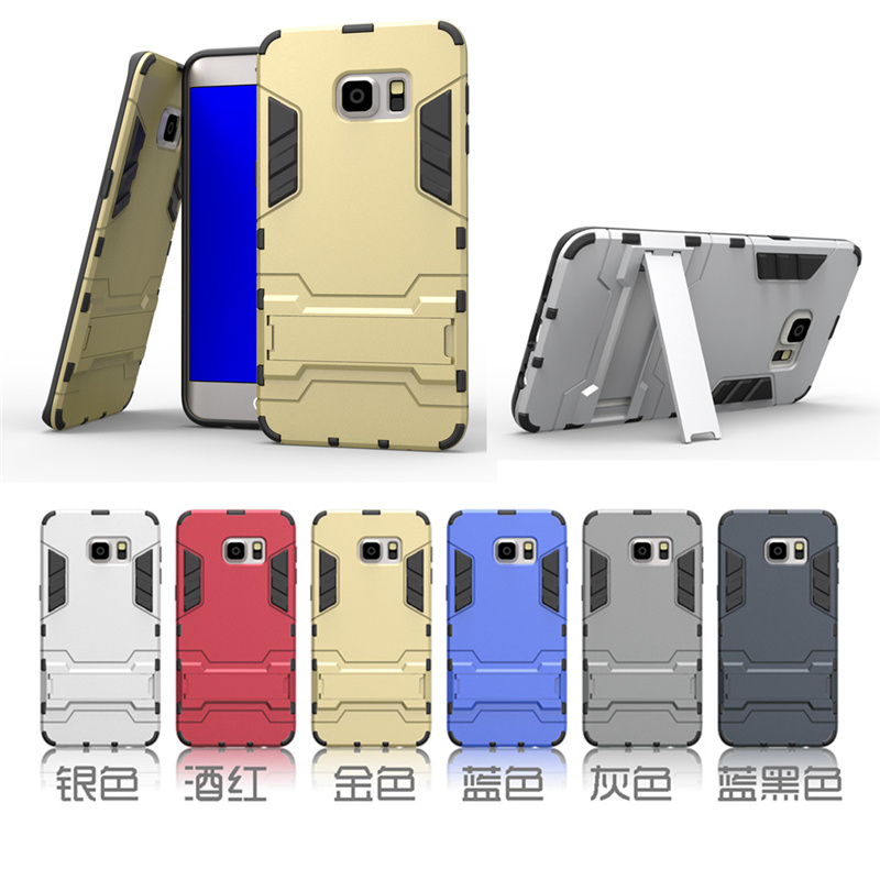 For Samsung Galaxy S6 Edge Plus Case Dual Layer Hybrid Rugged Armor Hard PC+TPU Shockproof With Kickstand Cover Cases 30pcs