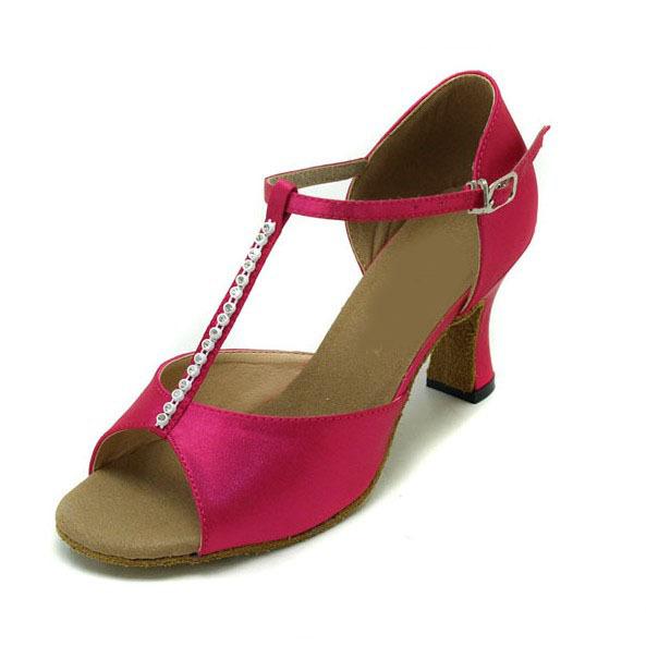 WL015TH  Ladies Ballroom latin dance shoes crystal diamond dance shoes Fast shipping worldwide<br>