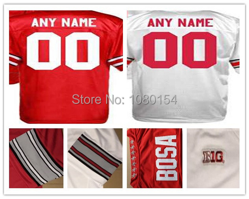 Hot 2015 Ohio State Buckeyes College Football Jerseys Personalized Custom Any Name Any Number 100% Embroidery Logos Red White(China (Mainland))