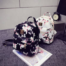 Women Backpack 2016 Hot Sale Fashion Causal Floral Printing Backpacks PU Leather Backpack For Teenagers Girls Mochilas Hot Sale(China (Mainland))