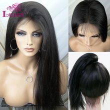 2016 Wholesale Price Straight Full Lace Human Hair Wigs Glueless Full Lace Front Wigs With Ponytail Brazilian Virgin Hair Wigs(China (Mainland))