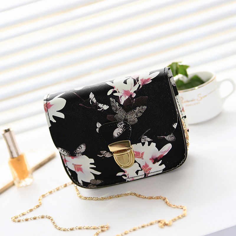 Summer Women Messenger Bags Flap Bag Lady PU Leather Fashion Floral Printed Crossbody Shoulder Bags Small Female Handbags(China (Mainland))