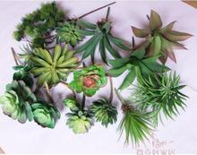 Min order $10 Artificial Succulents Simulation Flower Green Leaves Fake Plants  Landscape for Garden Decoration Home Office(China (Mainland))