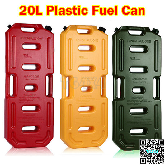 20l jerry can plastic petrol fuel tanks 5gal oil gas tank. Black Bedroom Furniture Sets. Home Design Ideas
