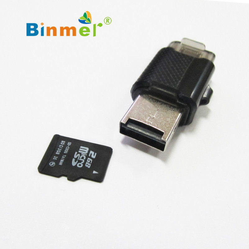 Hot selling Binmer 2 in 1 OTG+USB 2.0 Micro SD TF Card Reader GBNG For Android Phone Table PC(China (Mainland))
