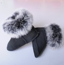 2016 new leather baby first walkers for boys and girls infant toddler shoes baby warm fur snow boots high-quality soft shoes(China (Mainland))