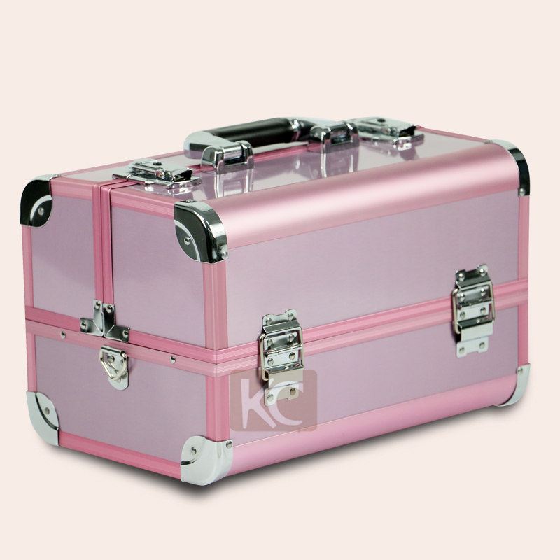Lovely Pink Clear Makeup Case