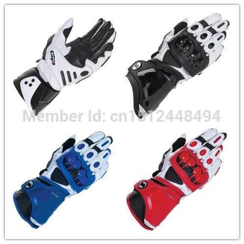 New GP PRO Motorcycle Gloves Real Leather Road Racing Glove Black White Red Moto Guantes(China (Mainland))