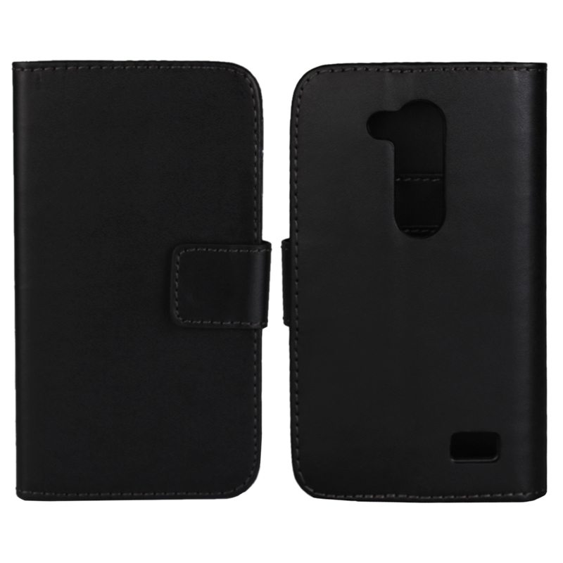 30 pcs/lot Card Slot Flip 100 Grain PU Leather Stand Wallet Case Cover LG L Fino D295