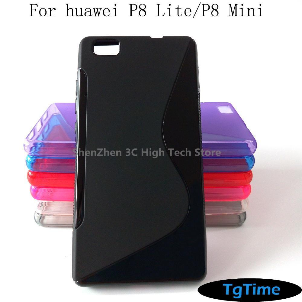 S Line Gel Tpu Soft Case Mobile Phone Rubber Silicone Bags Back Cover For Huawei P8 Mini Lite Fundas Coque Capa(China (Mainland))