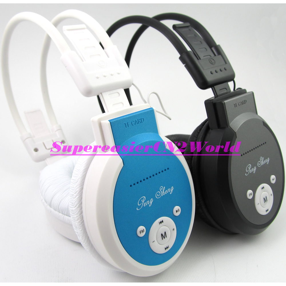 Sports Folding Headphone Stereo MP3 Hi-Fi Sound TF Card Reader Ear Microphone Record FM LINE IN OUT Headset in Retail Box(China (Mainland))
