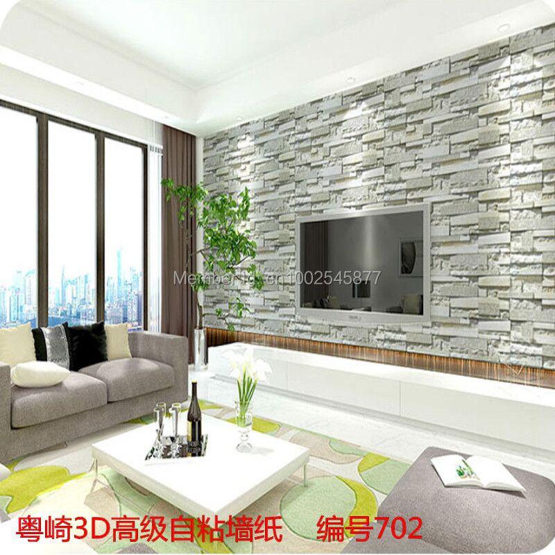 Brique papier peint en vinyle promotion achetez des brique for Mur brique salon