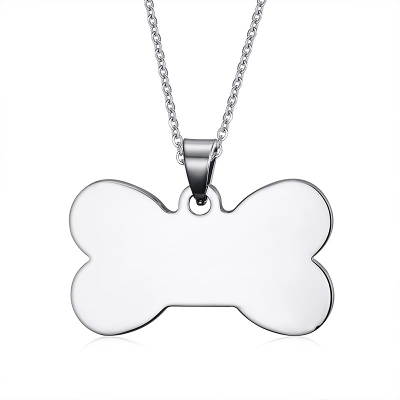 Highly Polished Stainless Steel Dog Bone Tag Pendants Can be Engraved Letter Jewelry(China (Mainland))