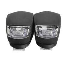 2 Pcs energy-efficient  LED Bicycle Light Head Front Rear Wheel Safety Bike Light Lamp Black MFBS