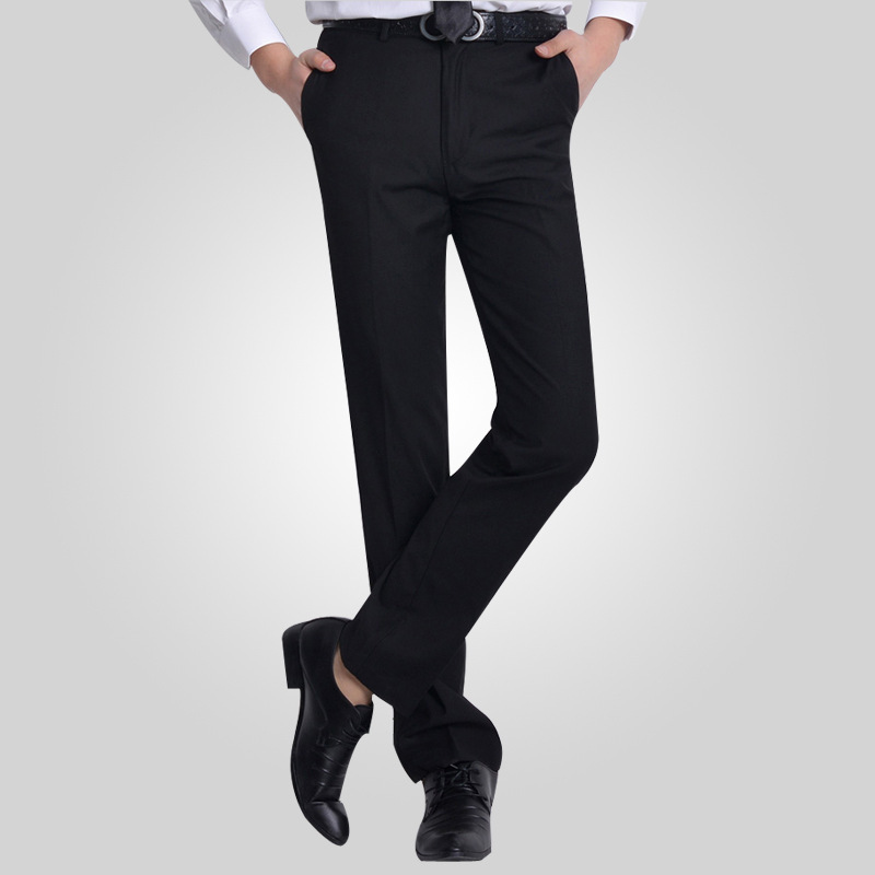 Buy Plus Size29-40 Wrinkle Free Wedding Black Mens Formal Pants ...
