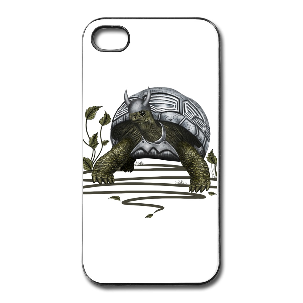 Personalized Case For Iphone 4 4s Old turtle warrior Cool Photos Cases For Iphone 4 Cheap(China (Mainland))